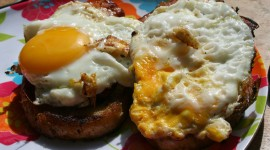 Fried Eggs In Bread Wallpaper Download Free
