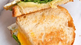 Fried Eggs In Bread Wallpaper For IPhone