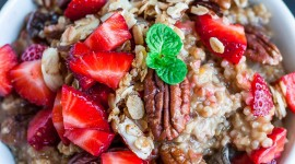 Oatmeal With Dried Fruits Best Wallpaper