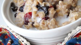 Oatmeal With Dried Fruits Wallpaper For IPhone Download