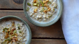 Oatmeal With Dried Fruits Wallpaper Free