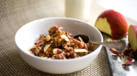 Oatmeal With Dried Fruits Wallpaper HD