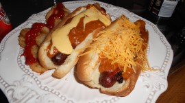 Sausages With Bacon And Cheese Wallpaper Download Free