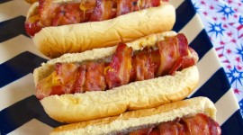 Sausages With Bacon And Cheese Wallpaper For IPhone Free
