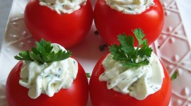 Stuffed Tomatoes Wallpaper For IPhone Download
