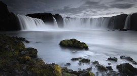Waterfalls Iceland Desktop Wallpaper