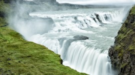 Waterfalls Iceland Wallpaper Background