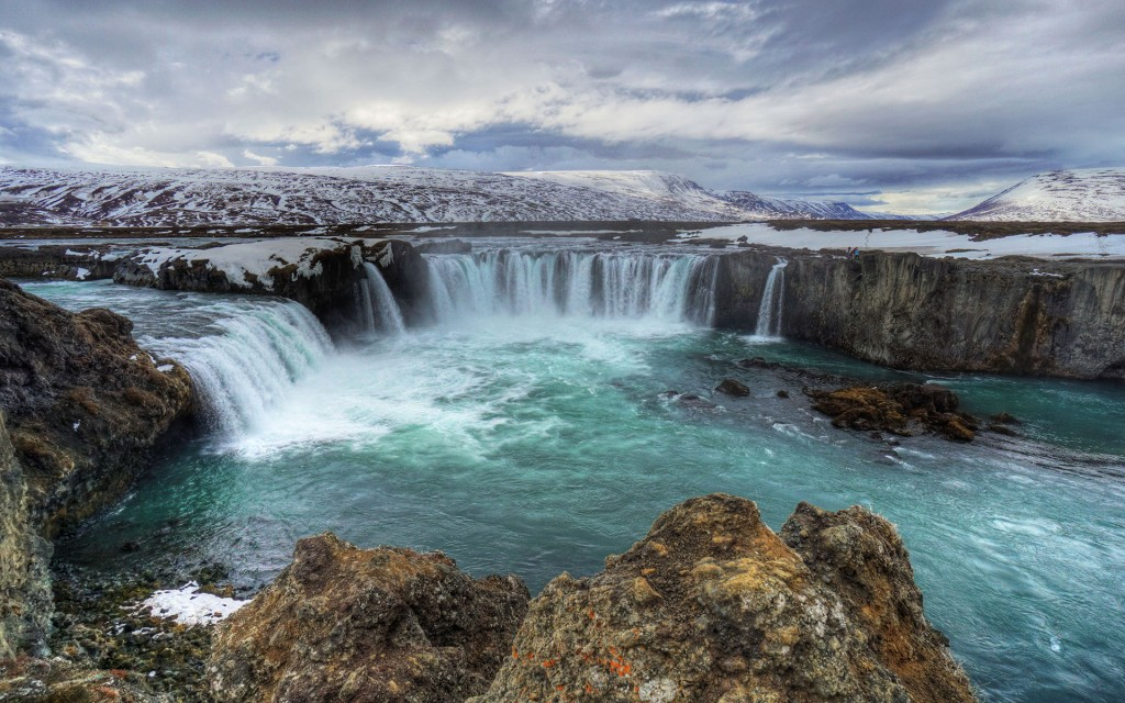 Waterfalls Iceland wallpapers HD