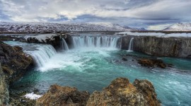 Waterfalls Iceland Wallpaper Download Free