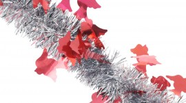 4K Christmas Tinsel Wallpaper Free