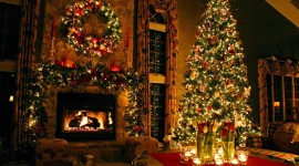 Christmas Decoration At Home High Quality Wallpaper