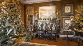 Christmas Decoration At Home Wallpaper Background