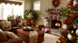 Christmas Decoration At Home Wallpaper For Desktop