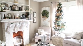 Christmas Decoration At Home Wallpaper HQ