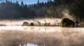 Mist Over Water Desktop Wallpaper HD