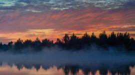 Mist Over Water Wallpaper