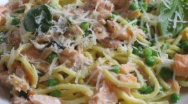 Salmon Pasta Wallpaper Download