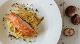 Salmon Pasta Wallpaper Full HD
