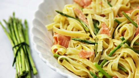 Salmon Pasta wallpapers high quality