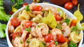 Shrimp Pasta High Quality Wallpaper