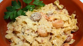 Shrimp Pasta Wallpaper Background