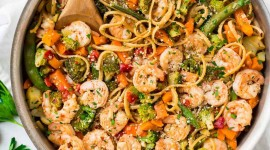 Shrimp Pasta Wallpaper For IPhone 6