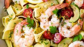 Shrimp Pasta Wallpaper For IPhone Free