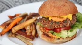 Vegetarian Burger Desktop Wallpaper