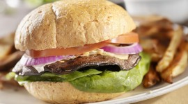 Vegetarian Burger Desktop Wallpaper For PC