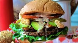 Vegetarian Burger Desktop Wallpaper Free