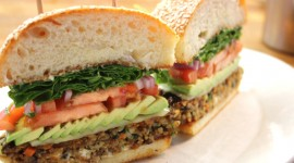 Vegetarian Burger Desktop Wallpaper HD