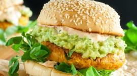 Vegetarian Burger Wallpaper