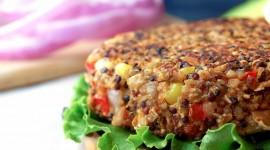 Vegetarian Burger Wallpaper Background