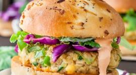Vegetarian Burger Wallpaper Download Free