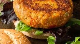 Vegetarian Burger Wallpaper Free