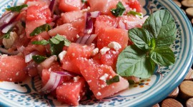 Watermelon Salad Wallpaper Background