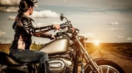 4K Girl On A Motorcycle Best Wallpaper