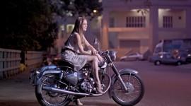 4K Girl On A Motorcycle Desktop Wallpaper
