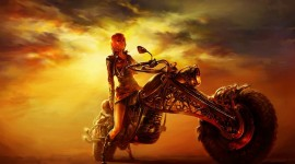 4K Girl On A Motorcycle Image Download