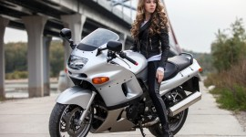 4K Girl On A Motorcycle Photo#2