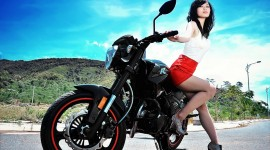 4K Girl On A Motorcycle Picture Download