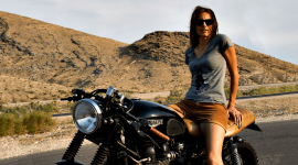 4K Girl On A Motorcycle Wallpaper