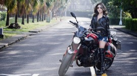 4K Girl On A Motorcycle Wallpaper Download