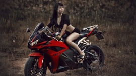 4K Girl On A Motorcycle Wallpaper Free
