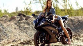 4K Girl On A Motorcycle Wallpaper HQ