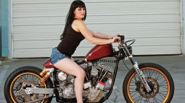 4K Girl On A Motorcycle Wallpaper HQ#2