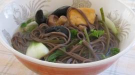 Buckwheat Noodles With Vegetables Desktop Wallpaper HD