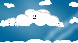 Cartoon Clouds Wallpaper Full HD