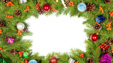 Christmas Tree Frame wallpapers high quality