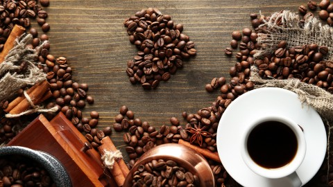 Heart Coffee Beans wallpapers high quality